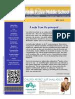 Mountain Ridge Middle School Newsletter