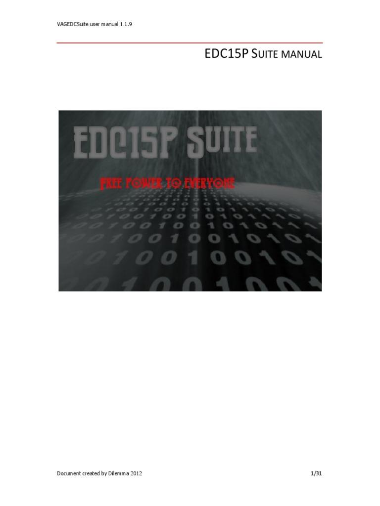 EDC15PSuite Manual   Computer File   Directory (Computing)