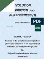 Evolution, Empiricism and Purposeness (1)