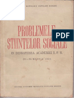Problemele Stiintelor Sociale 1951