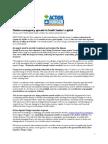 ACF USA Statement on Cholera - 05 22 14