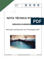 Tubos Krah en Emisarios Submarinos