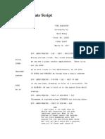 The Graduate Script