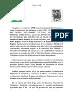 IZQUIERDA DEMOCRATICA POPULAR EN HOMENAJE A FABRICIO GOMEZ SOUZA