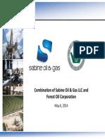 Forest Oil - Sabine Merger Presentation - FINAL