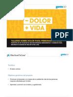 Taller - DOLOR + VIDA pdf