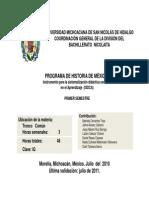 Proyecto de Historia de Mexico i