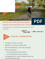 Study on physically active Montrealers