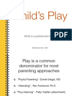 Play and the Pediatrician's Role
