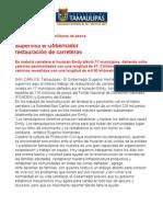 Com0290, 090805 Eugenio Hernández supervisa restauración de carreteras