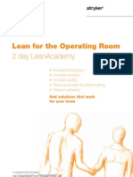 Lean Operating room training - Initial offering - University of TN / Stryker