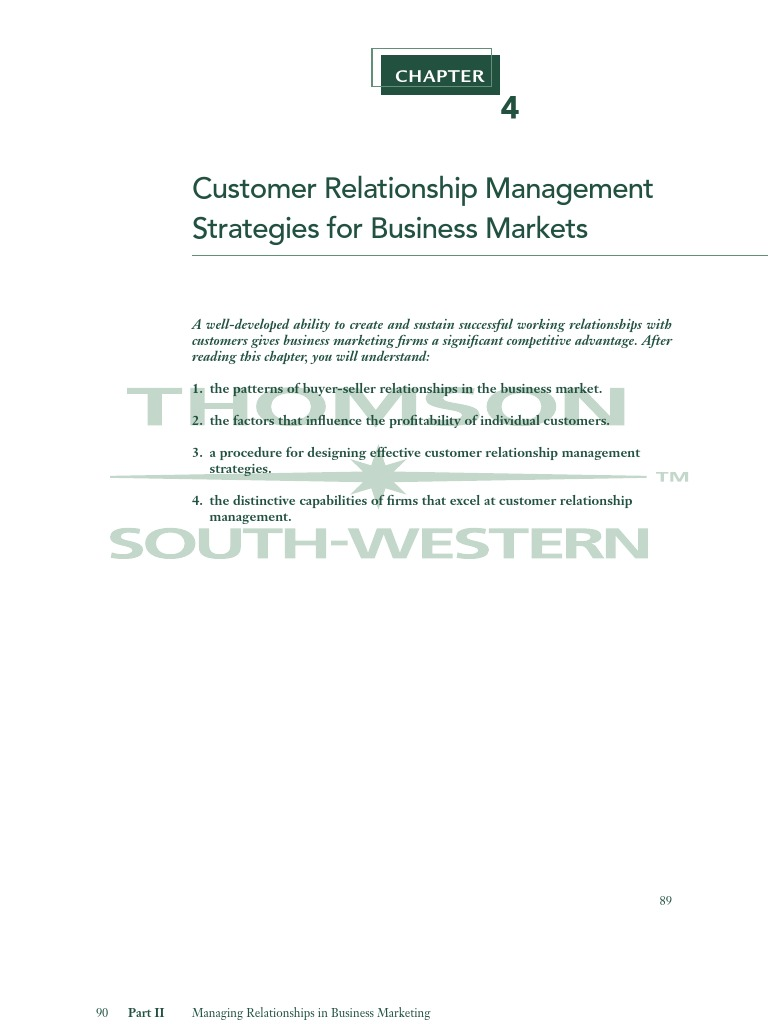 relationship of management methods with the Analytical customer relationship management (crm) is the process of collecting and an- thus, space reduction methods (eg, slice inverse regression (li.