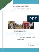 Sistema de Agua Potable y Excretas Vizcachani y Patabamba Melgar