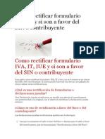 Como Rectificar Formulario IVA