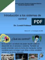 Introducción a los Sistemas de Control