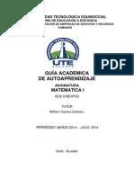 Guía Matematica i Marzo 2014 a Julio 2014