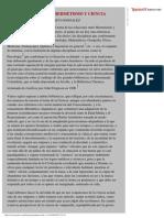 Gonzales, Federico - Apuntes Sobre Hermetismo y Ciencia I