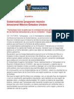 Com0303, 200805 Proponen gobernadores reunión binacional México-Estados Unidos