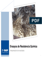 """""""Ensayos de Resistencia Química Interpretación de Resultados"""