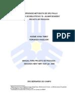 Modelo Projeto de Pesquisa Cep Metodista
