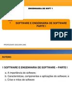 1 Software e Engenharia de Software Тау Parte i