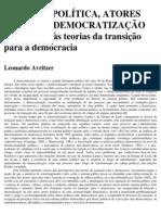 Avritzer, Leonardo. Cultura Política e Democratização