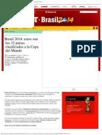 Brasil 2014_ Estos Son Los 32 Países Clasificados a La Copa Del Mundo _ El Comer