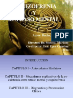 Esquizofrenia y Retraso Mental Presentacion 2014 Monografia