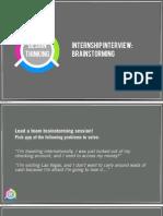 Capital One Internship_Brainstorming Interview