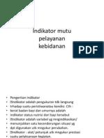 Indikator Mutu Pp