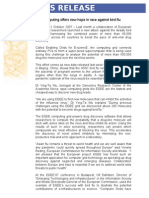 EGEE Press Release Avian Flu