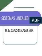 Sistemas Lineales Clase 1