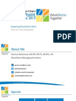 Exploring Sharepoint 2013