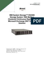 IBM DS3300 ESRP Storage Solution Guide