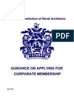 Guidance on Applying for Corporate Membership (Jul 2013)