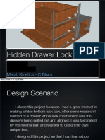 Hidden Drawer Lock Mechanism Design Folder