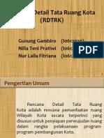 Rencana Detail Tata Ruang Kota (RDTRK)