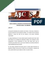 ABCES Incidente de Reparacion Integral