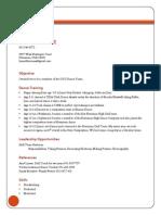 hannahs dance resume