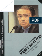 Vazquez Garcia F Pierre Bourdieu La Sociologia Como Critica de La Razon Ed Montesinos 2002