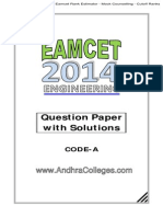 Eamcet 2014 Engineering Key Solutions Andhracolleges