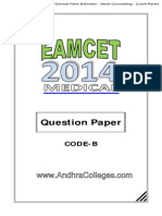Eamcet 2014 Medical Question Paper With Key Solutions Andhracolleges