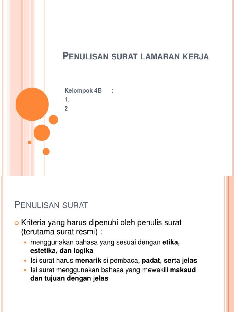 Contoh Surat Lamaran Kerja Full Block Style Bahasa Indonesia