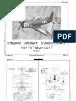 F8F-2 Standard Aircraft Characteristics
