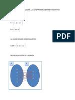 Diagramas Sagitales de Las Operaciones Entre Conjuntos