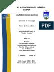 Practica 1.Pruebas Cruzadas. Inmunologia. Mesa 4