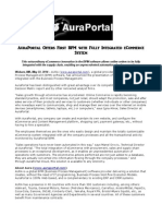 AuraPortal Offers First BPM With Fully Integrated ECommerce System
