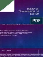 Design of Trandmission System