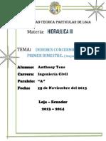 Anthony Tene Hidraulica III Deberes 1ra Parte