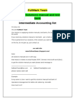 Intermediate Accounting Test Bank Solutions Manual